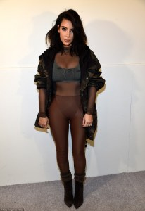Kim Kardashian West who was dressed in Yeezy head to toe.