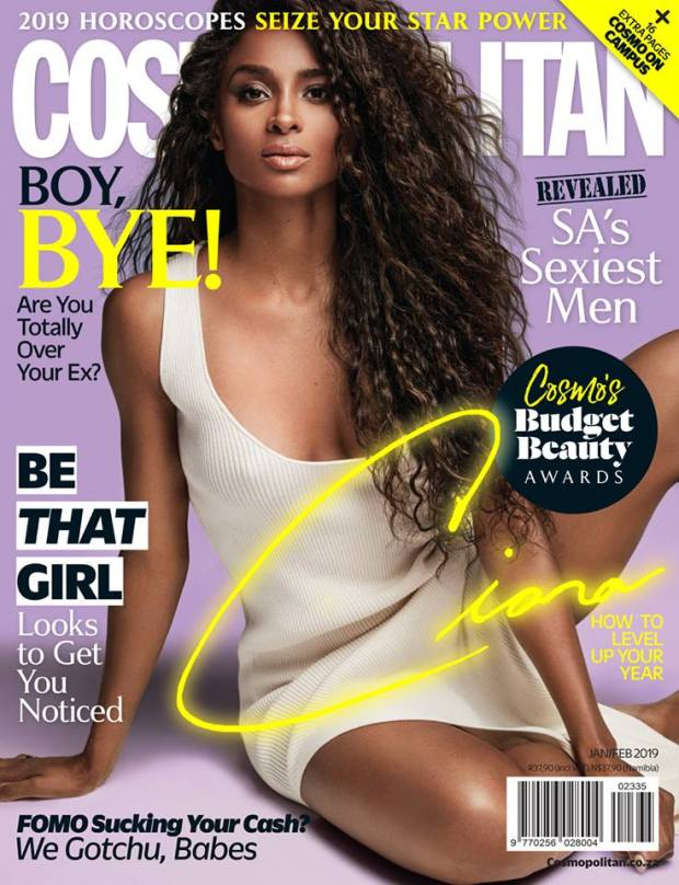 ciara cosmopolitan magaizen jan feb